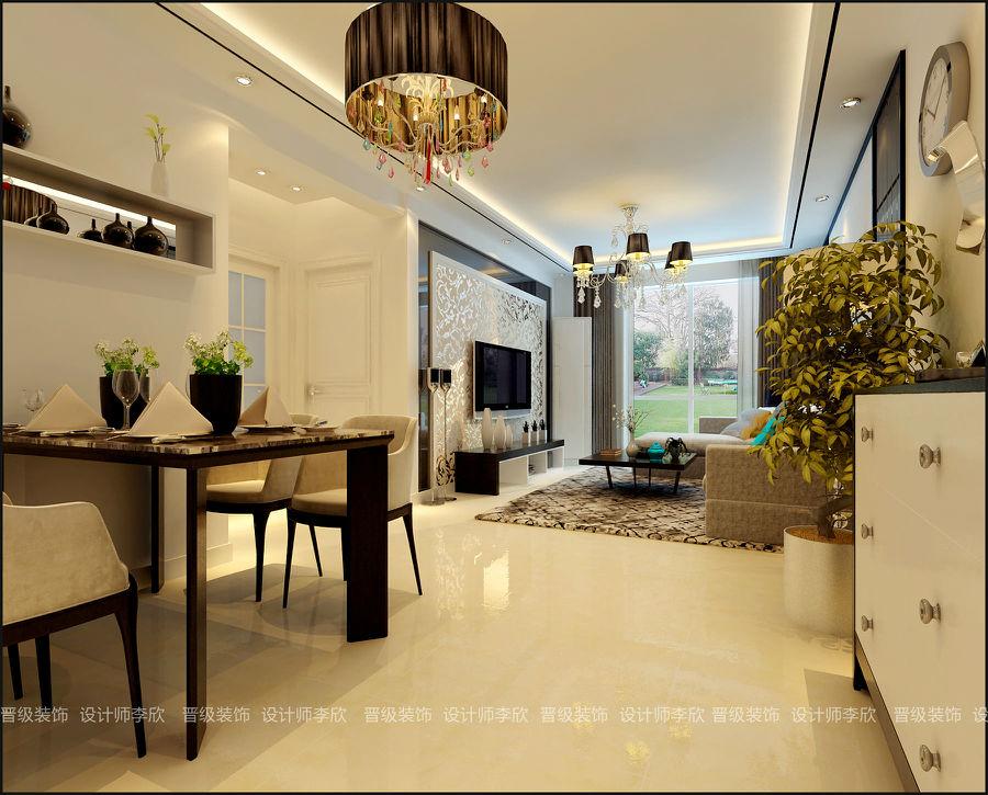 晋级装饰总店案例|中海和平之门79平现代简约风格作品